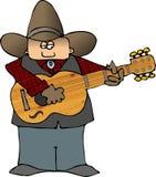 Minstrel del cowboy royalty illustrazione gratis