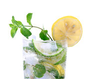 Mint And Lemon Soda Drink Royalty Free Stock Photos