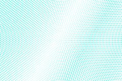 Mint blue dotted halftone. Half tone  background. Cold dotted gradient. Cold palette futuristic texture. Mint blue ink dot on transparent backdrop. Pop art Royalty Free Stock Image