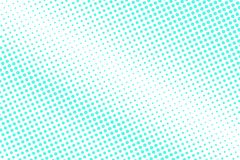 Mint blue dotted halftone. Half tone  background. Diagonal dotted gradient. Cold palette futuristic texture. Mint blue ink dot on transparent backdrop. Pop art Stock Images