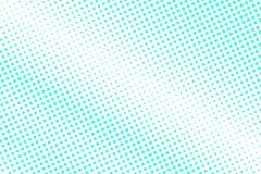 Mint blue dotted halftone. Half tone background. Diagonal dotted gradient. Cold palette futuristic texture. Mint blue ink dot on transparent backdrop. Pop art stock illustration