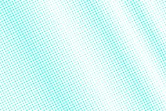 Mint blue dotted halftone. Half tone  background. Minimal dotted gradient. Cold palette futuristic texture. Mint blue ink dot on transparent backdrop. Pop art Royalty Free Stock Images