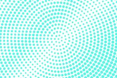 Mint blue dotted halftone. Half tone  background. Radial dotted gradient. Cold palette futuristic texture. Mint blue ink dot on transparent backdrop. Pop art Royalty Free Stock Photo