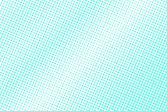 Mint blue dotted halftone. Half tone background. Smooth dotted gradient. Cold palette futuristic texture. Mint blue ink dot on transparent backdrop. Pop art stock illustration