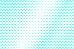 Mint blue dotted halftone. Half tone  background. Textured dotted gradient. Cold palette futuristic texture. Mint blue ink dot on transparent backdrop. Pop art Stock Images