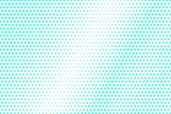 Mint blue dotted halftone. Half tone background. Textured dotted gradient. Cold palette futuristic texture. Mint blue ink dot on transparent backdrop. Pop art stock illustration