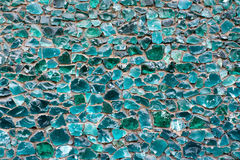 Mint blue green color mosaic texture. Mint blue green color mosaic glass pebbles textured pattern background Stock Images