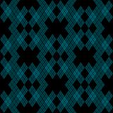 Mint Blue Green Tartan Vintage seamless on black Background Vector Illustration. royalty free illustration