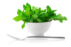 Mint in bowl Royalty Free Stock Photo