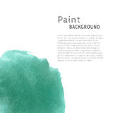 Mint bright watercolor paint background Stock Photo