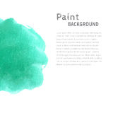 Mint bright watercolor paint background Royalty Free Stock Images