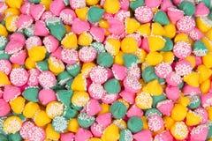 Mint Candies. Colorful Mint Nonpareils Candies Background Stock Photos