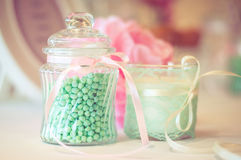 Mint candies in a jar Royalty Free Stock Photos