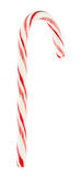 Mint Candy Cane. Striped mint hard candy cane, isolated on white background Stock Image