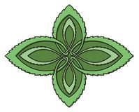 Mint celtic knot Royalty Free Stock Photography