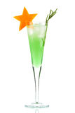 Mint Champagne alcohol cocktail Royalty Free Stock Photography