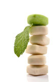 Mint chewing gums stock images