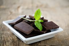 Mint chocolate Stock Image