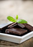 Mint chocolate Stock Photo