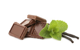 Mint chocolate Stock Photo