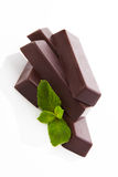 Mint chocolate bar . Stock Photography