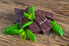 Mint chocolate bars Royalty Free Stock Image