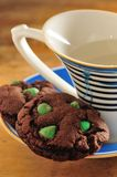 Mint Chocolate cookie Royalty Free Stock Photo
