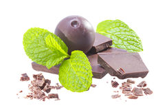 Mint chocolate. Royalty Free Stock Photography