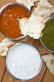 Mint Chutney, Mint Yogurt And Spicy Pepper Dip. Stock Photography