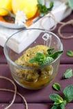 Mint and citrus granita dessert. Fresh mint and citrus granita dessert Royalty Free Stock Photography