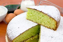Mint and coconut cake Stock Photos