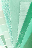 Mint color choice. For interior decoration Royalty Free Stock Images