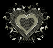 Mint Colored Metal Heart and Swirls Stock Photos