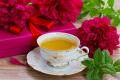 Mint cup of tea Royalty Free Stock Photos