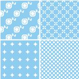 Mint different vector seamless patterns. Can be used for pattern fills, web page background vector illustration