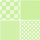 Mint different vector seamless patterns. Can be used for pattern fills, web page background royalty free illustration