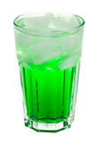 Mint drink. Glass with green mint drink on white background royalty free stock images