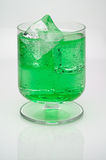 Mint  drink with ice cubes Stock Image