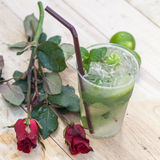 Mint drink water from natural cool. Stock Photography