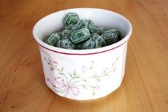 Mint drops Stock Photo