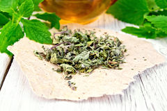 Free Mint Dry On Paper With A Cup Royalty Free Stock Photography - 48150317