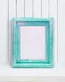 Mint frame on white background Royalty Free Stock Photo