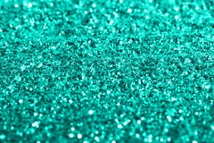 Mint glitter texture festive abstract background, workpiece for design, soft focus stock images
