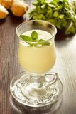 Mint and ginger milk cocktail royalty free stock image