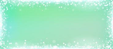 Mint Green Blog Banner Background With Bokeh Border Stock
