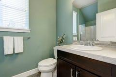 Mint green half bathroom interior Stock Image