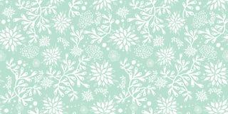 Mint green underwater seaweed pattern. royalty free illustration