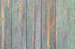 Mint green wood boards. Mint green colored wood wall at shabby style Royalty Free Stock Photos