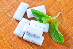 Mint gum Stock Photography