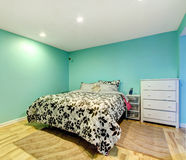 Mint happy bedroom Royalty Free Stock Photos
